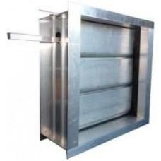 Алюминиевый воздушный клапан с площадкой под привод - 100х100