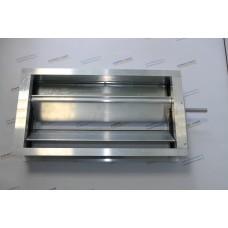 Алюминиевый воздушный клапан с площадкой под привод 500х150