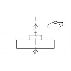 Адаптер для потолочной решетки - Осевая врезка - 310х310/100