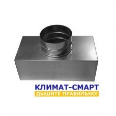 Адаптер для потолочной решетки - Осевая врезка - 160х160/100